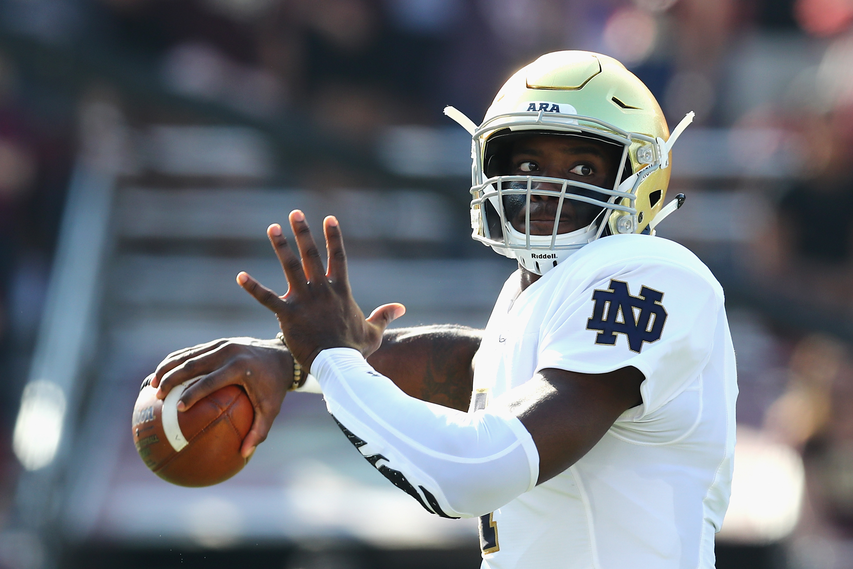 Brandon Wimbush (foot) '100 percent' for showdown with USC