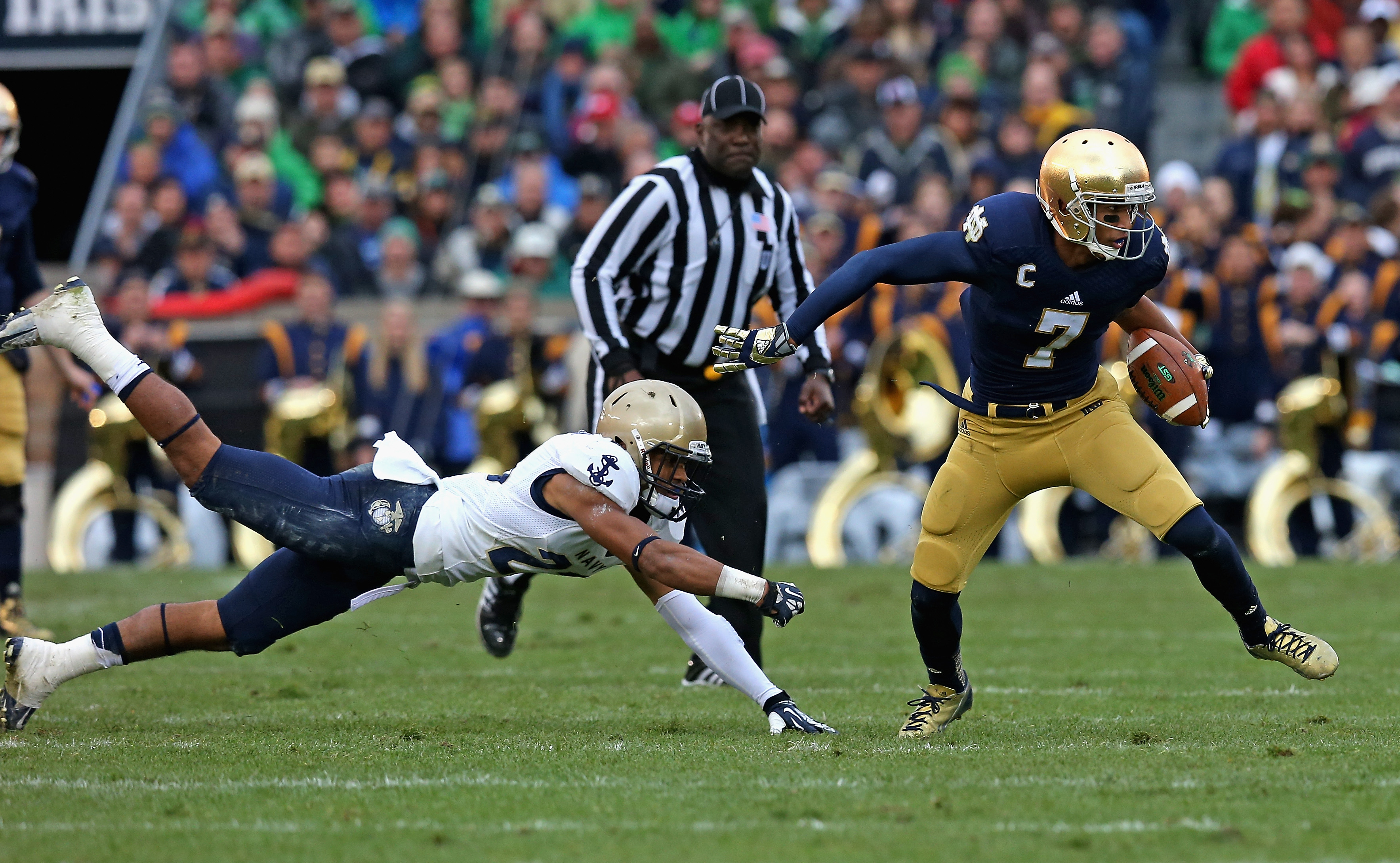 Notre Dame Keeps Slim Playoff Hopes Alive With Victory Over Navy